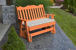 product image for Outdoor Poly 5 Foot Royal English Glider - Tangerine