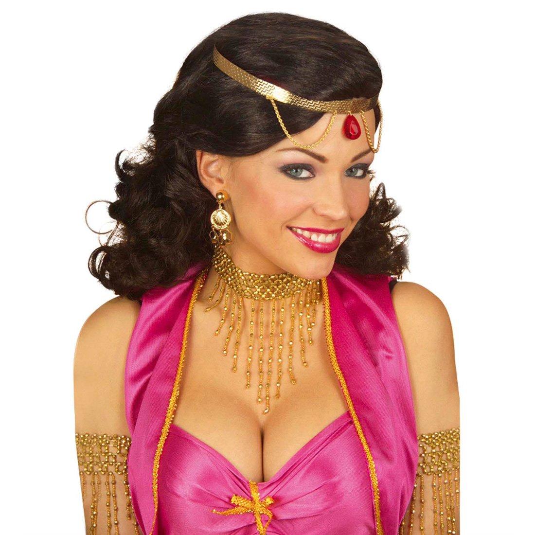 Goldkette gangster damen  Charleston Kette gold Cleopatra Halskette Damen Halsband Ägypterin ...