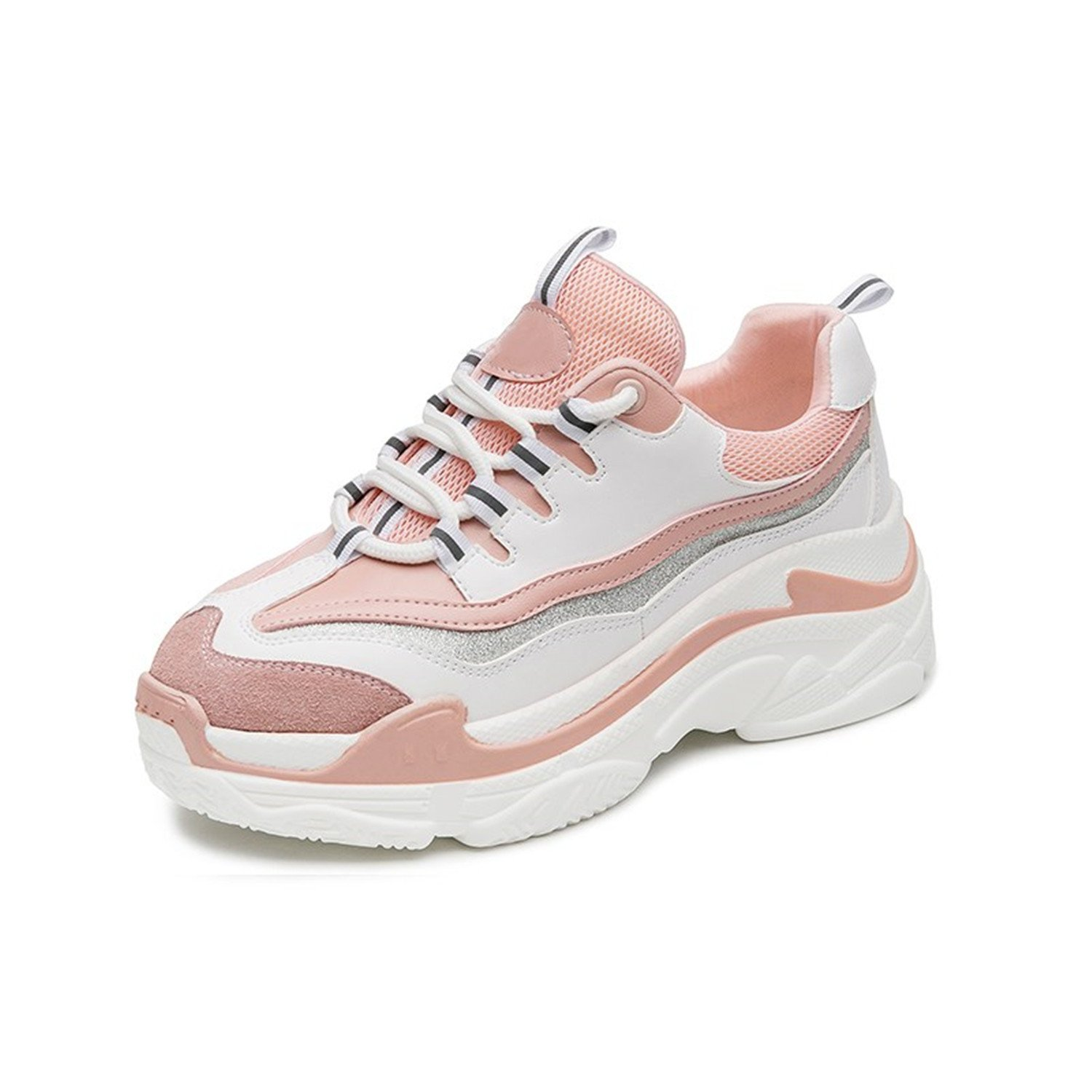 Nerefy 2018 Women Sneakers Shoes for Woman Fashion Lace-up Flat Platform Shoes White Casual Shoes