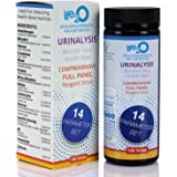 Comprehensive 14-in-1 Urine Test Strips 100ct | Urinalysis Dip-Stick Testing Kit | Ketone, pH, Blood, UTI, Protein…