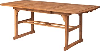Walker Edison Furniture Company Solid Acacia Wood Patio Dining Table