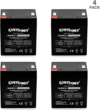 12V 5AH SLA BATTERY FOR ELECTRIC SCOOTER Mighty Max 4 Pack ALARM SYSTEM BATT