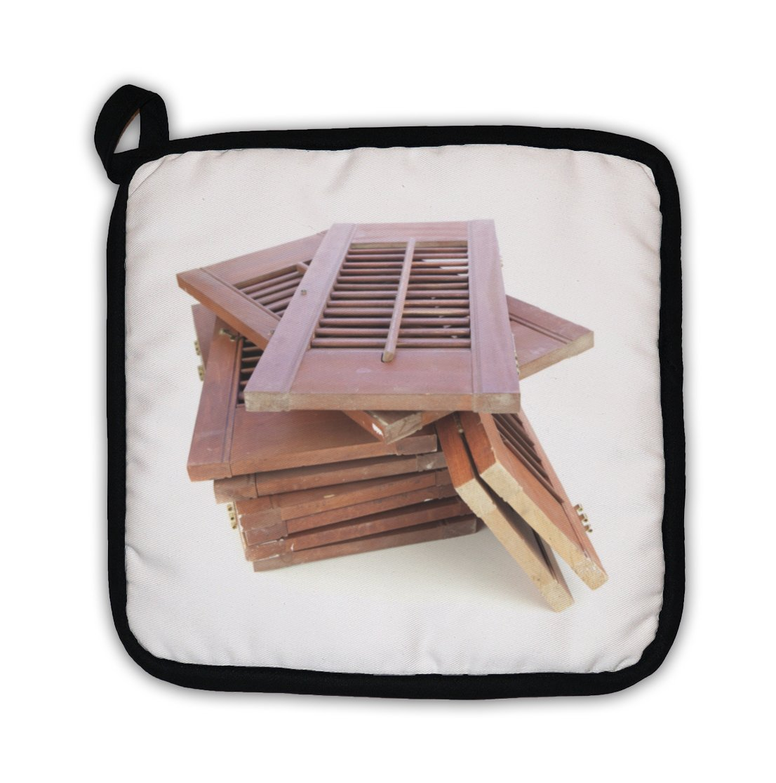 Gear New ''Used Window Shutters Recycled Building Materials'' Pot Holder