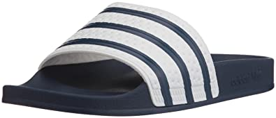 6c8bb14633c4a adidas Mens Adilette Navy Synthetic Sandals 6 US