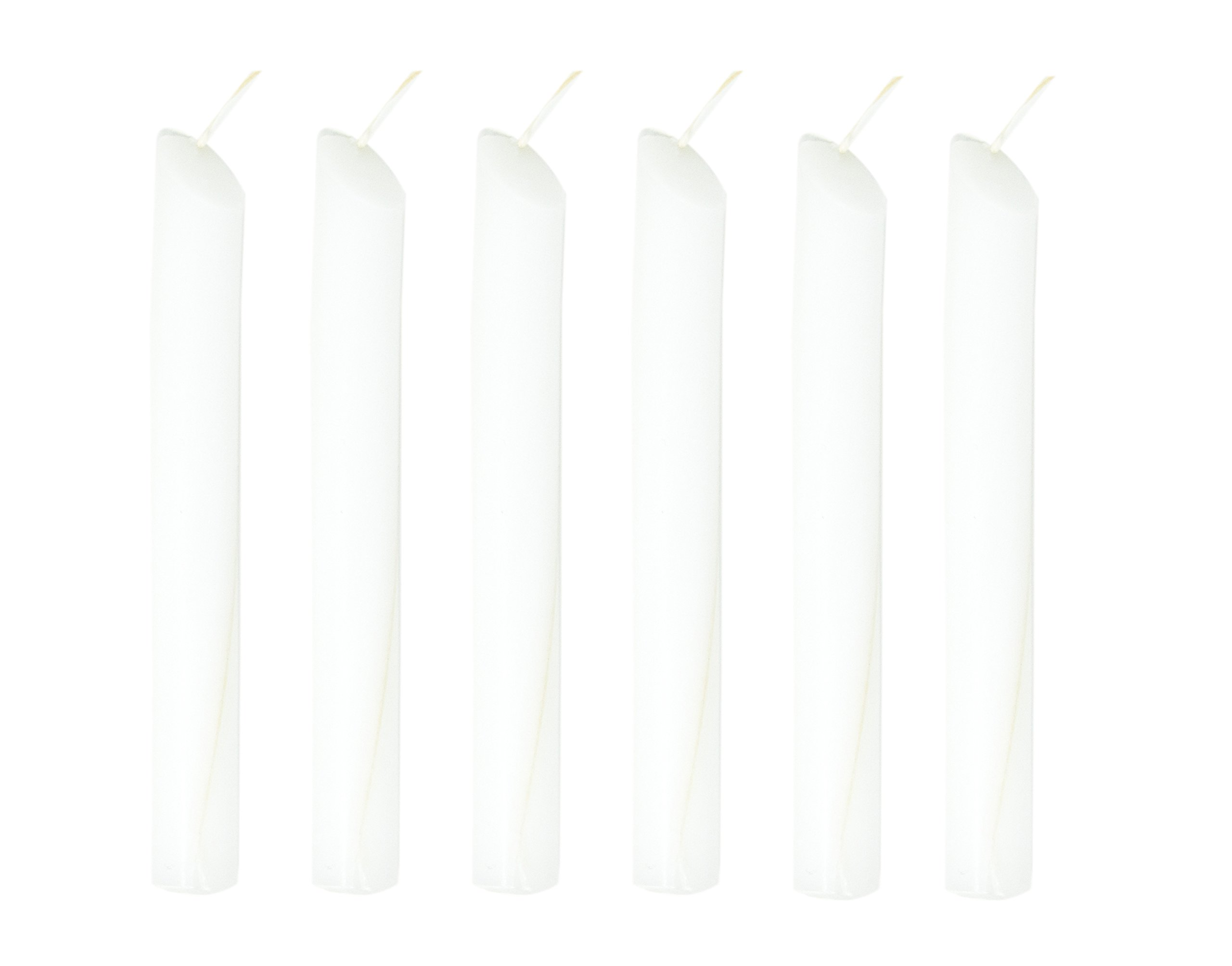 Drip Candle Solid Color Dripping Candle 6 Pack (White)