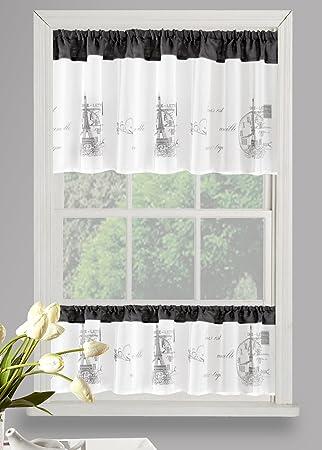 Amazonde Eurofirany Schöne Fensterdekoration Ideal Vorhang Hxb
