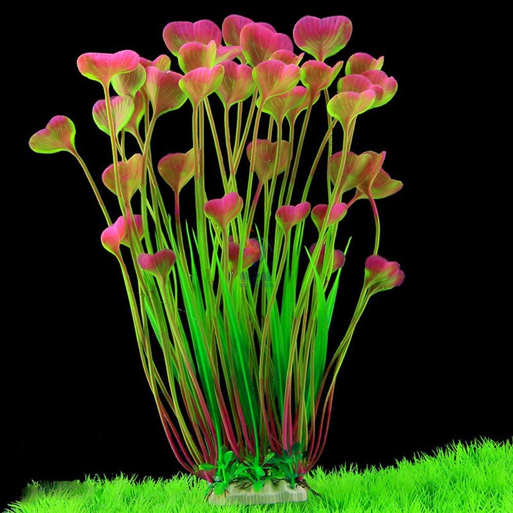 seguras para Todos los Peces 7.09 Pulgadas de Ancho Color Rojo Vino MINERLELE Plantas Artificiales de pl/ástico para Acuario de 15,7 Pulgadas de Alto para decoraci/ón de peceras de tama/ño Grande