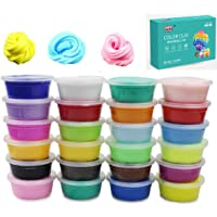 24 Colors Fluffy Slime Soft Super Light Clay DIY Modeling Magic Air Dry Clay Toy for Kids Children