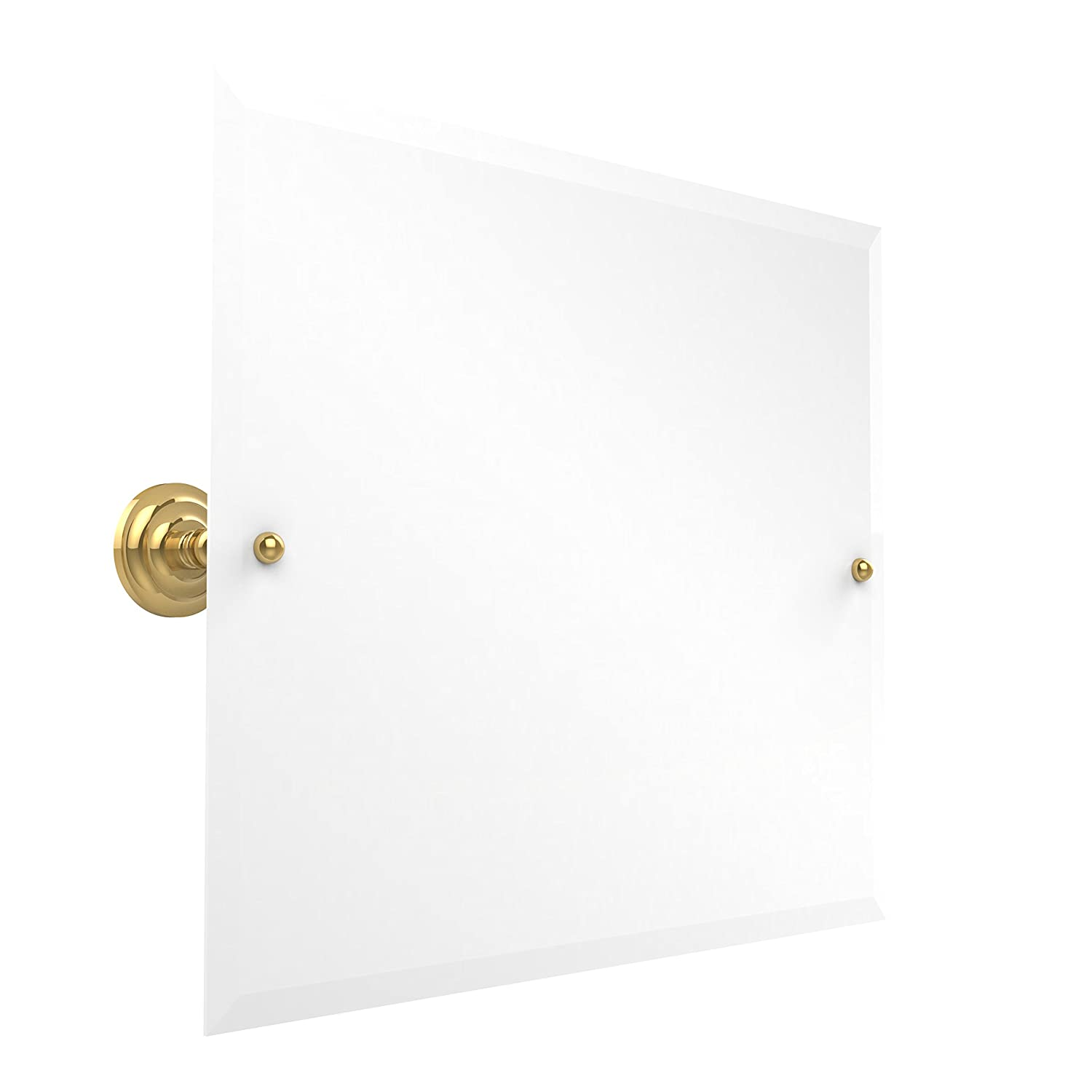 Allied Brass PQN-93-PB 21-Inch X 26-Inch Landscape Rectangular Tilt Mirror, Polished Brass by Allied Brass B00BA7Z3WW  光沢真鍮