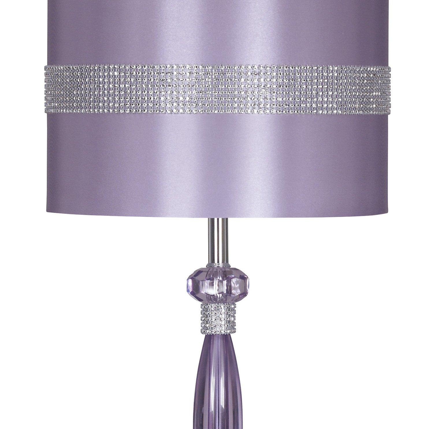 Amazon.com: Púrpura Lámpara de mesa de metal: Home & Kitchen