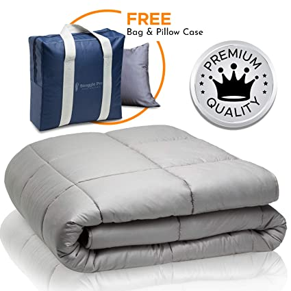 Snuggle Pro Weighted Blanket Adult 15 Lbs Heavy Blanket For Sleeping 48 X72 Twin Size The Best Calming Blanket Premium Cotton Cooling