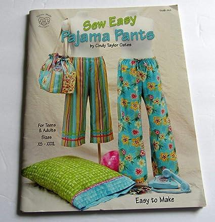 TAYLOR MADE DESIGNS TMB163  TAYLOR MADE SEW EASY PAJAMA PANTS BK