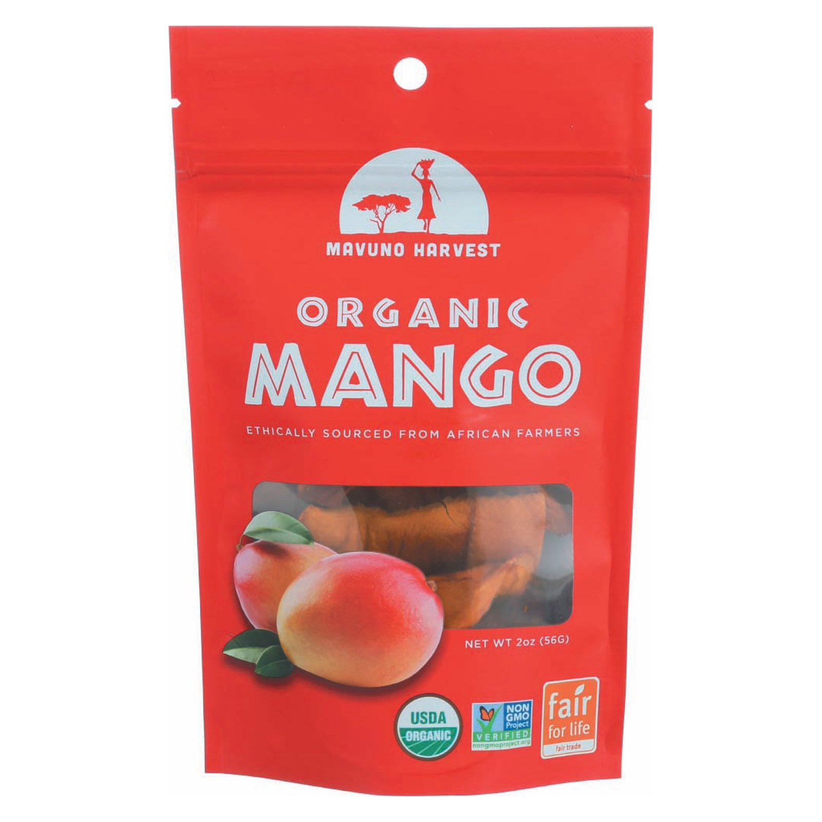 Mavuno Harvest Gluten - Free Dried Mango - Case of 6-2 oz.