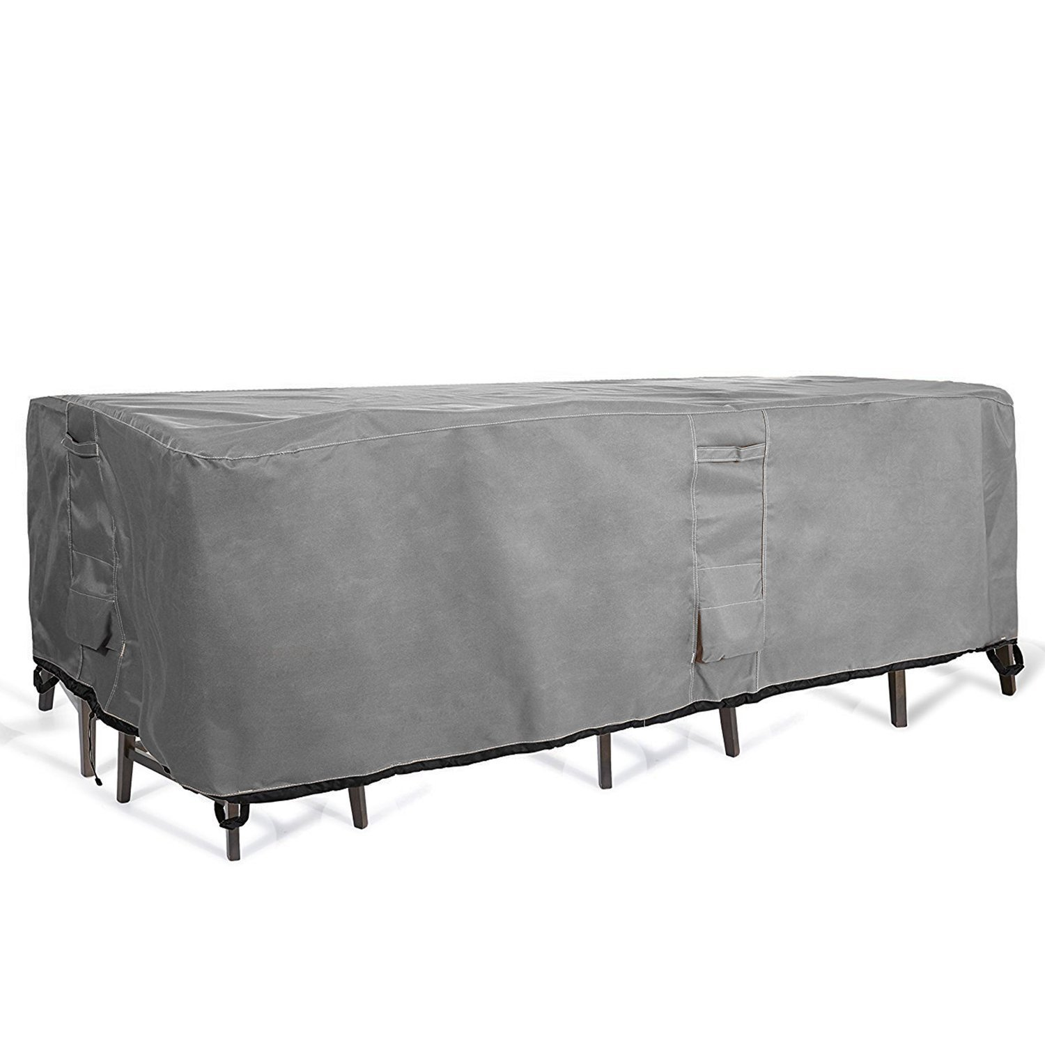 KHOMO GEAR - Titan Series - Patio Table & Chair Set Cover - Durable and Water Resistant Outdoor Furniture Cover, Medium Size