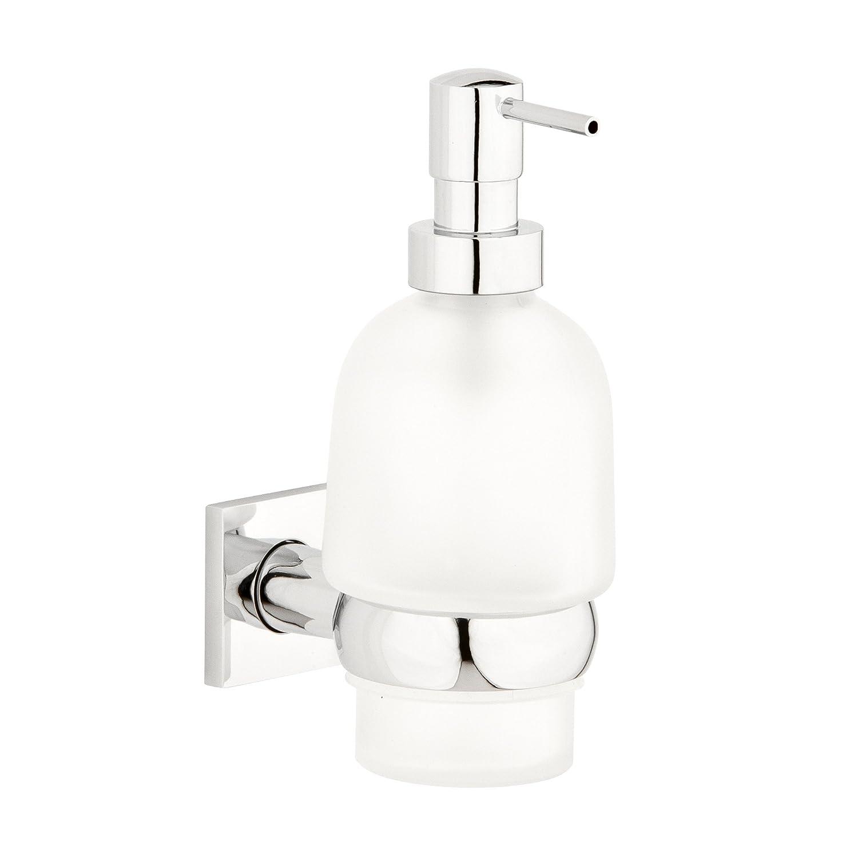 Cherry: Bath Mint-Dispenser da muro in vetro, colore: alluminio CherryBath 65261600