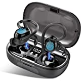 MuGo Wireless Earbuds, Bluetooth Headphones Sport, Waterproof Headset Deep Bass Loud Voice Call with Smart LED Display, BT5.0
