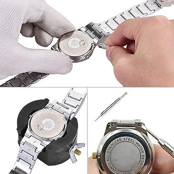 bestune Juego de Herramientas, 40 Stk Profesional Herramientas para Reloj reparación Juego de Herramientas Caja Relojero Regalo para Hombre con buzón: Amazon.es: Relojes