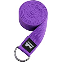 Reehut Yogagordel van katoen met stevige sluiting van 2 verstelbare D-ringen, lange yogariem band accessoires voor…