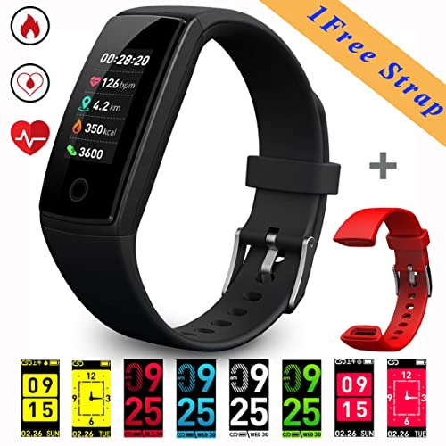 HYCLES Fitness Trackers Smart Bracelet, Colorful Display Activity Tracker Watches with Heart Rate/Blood Pressure, Sleep Monitor Calories Pedometer,Call/SMS Reminder USB charge for iOS and Android