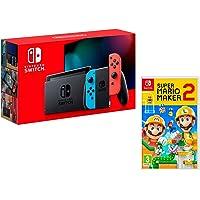 Nintendo Switch Rouge/Bleu Néon 32Go + Super Mario Maker 2