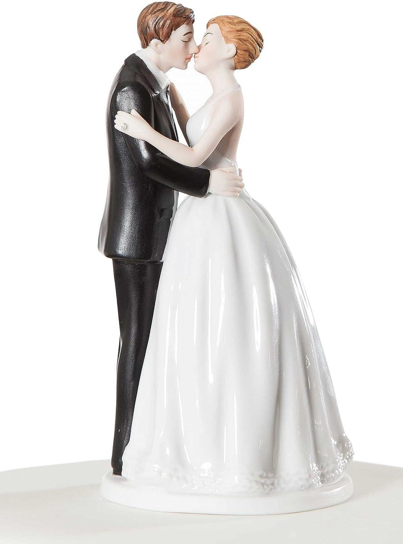 Amazon Com Wedding Collectibles Romance Kissing Couple Wedding Cake Topper Figurine Kitchen Dining