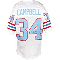 $109 » Earl Campbell Signed White Pro Style Football Jersey BAS