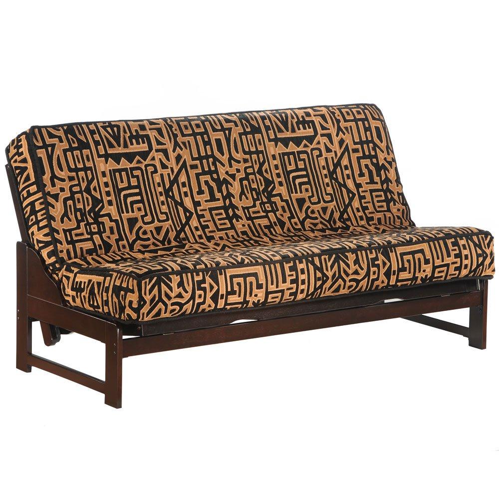 Night & Day Furniture Eureka Queen Futon Frame in Chocolate Finish Chocolate by Night & Day Furniture