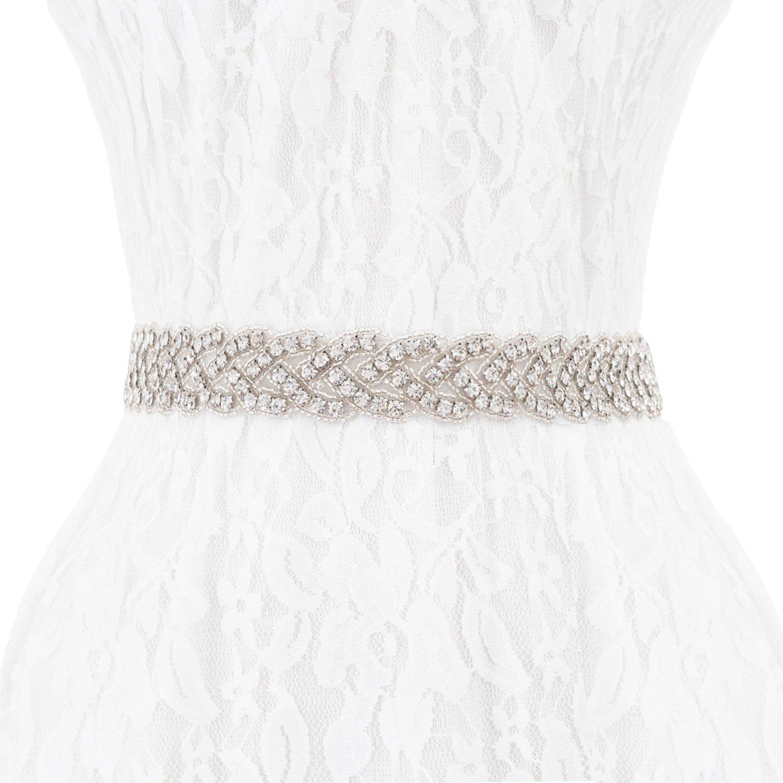 Wedding Bridal Belt Sashes, Wedding Dress Sashes Belts With Rhinestones Beaded Decoration for Women Wedding Party, Prom Evening Dresses, Bridesmaid Dress, Bridal Accessories