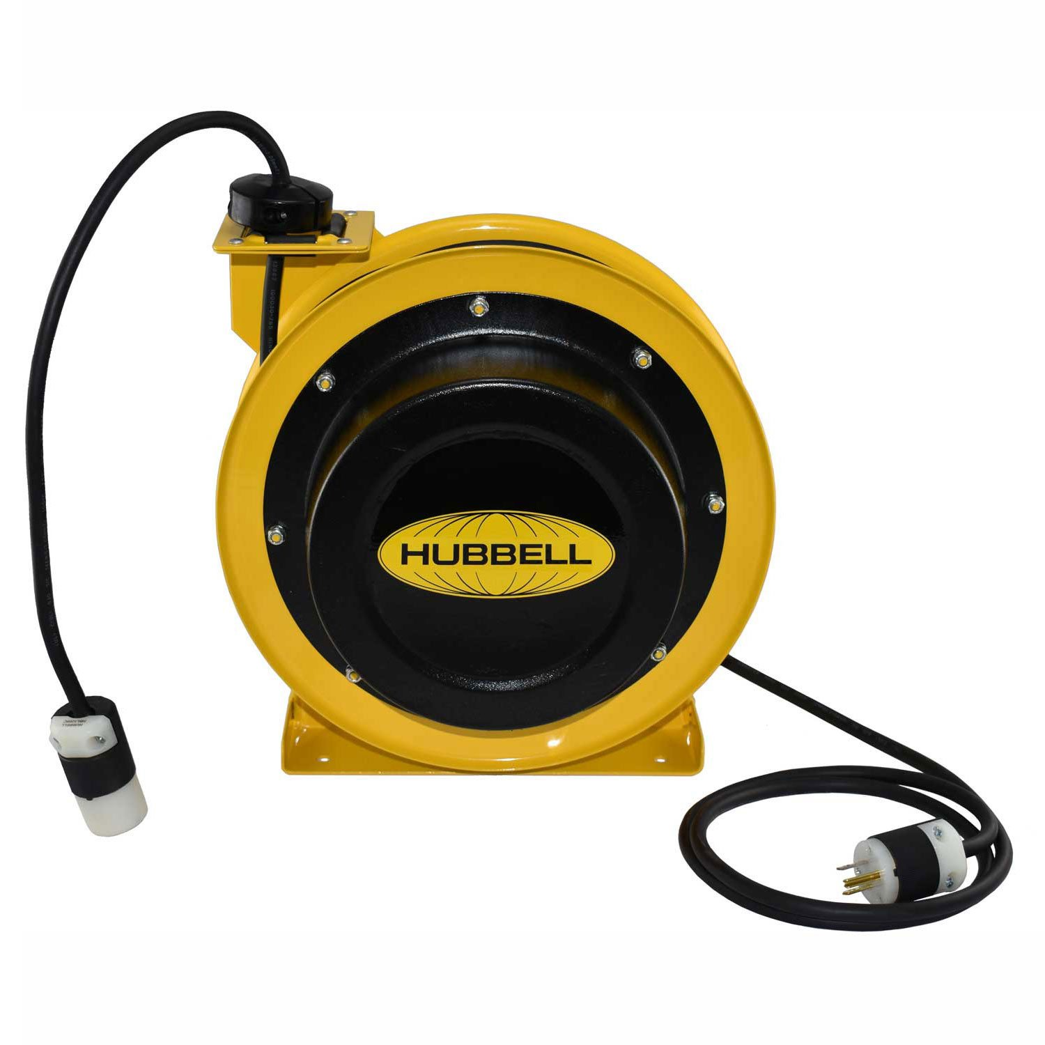 Hubbell Gleason Industrial Duty Cord Reel with Single Outlet, 14/3c x 25' Cable, GCA14325-SR