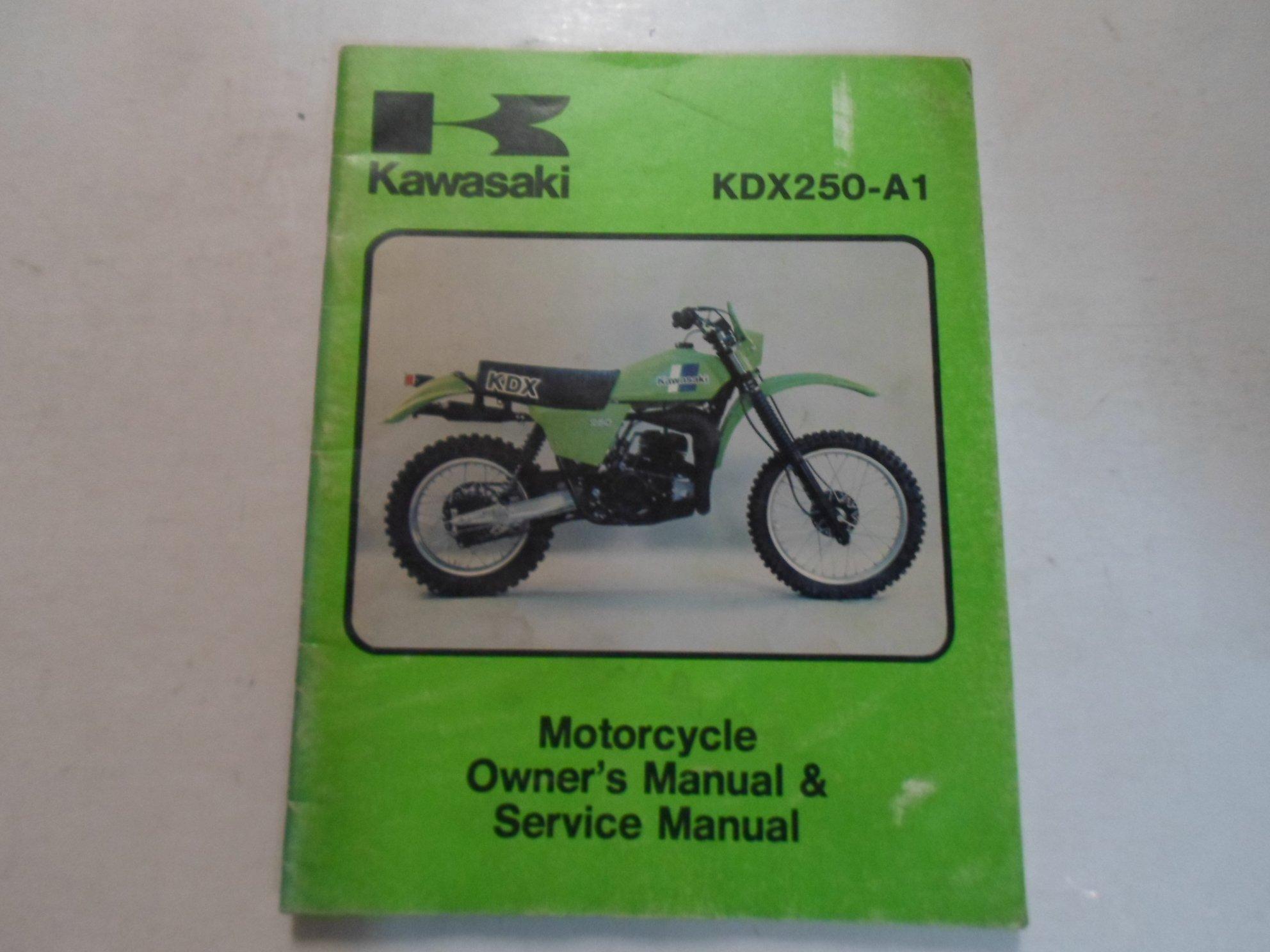 1980 kawasaki kdx250 a 1 motorcycle owners manual service manual rh amazon com kawasaki kx 250 f 2009 service manual kawasaki kx 250 f 2009 service manual