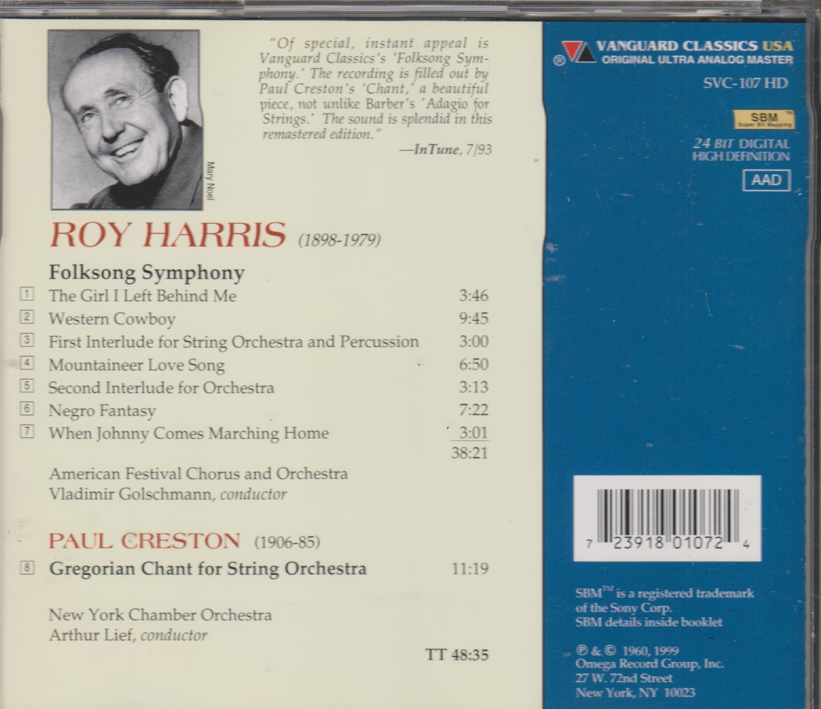 Harris: Folksong Symphony / Creston: Gregorian Chant for String Orchestra