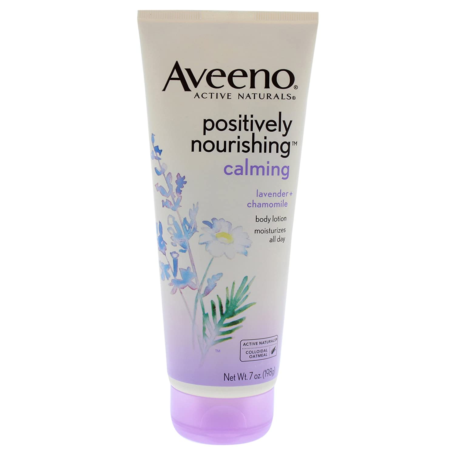 Aveeno Positively Nourishing Lavender And Chamomile Calming Body Lotion, 7 Oz 381371152087
