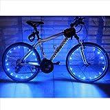Lmeno Bike Bicycle Spoke Lights Waterproof 2 Modes Cycling Wheel Tire Lights Steel Wire rim 20 LED Flash Light