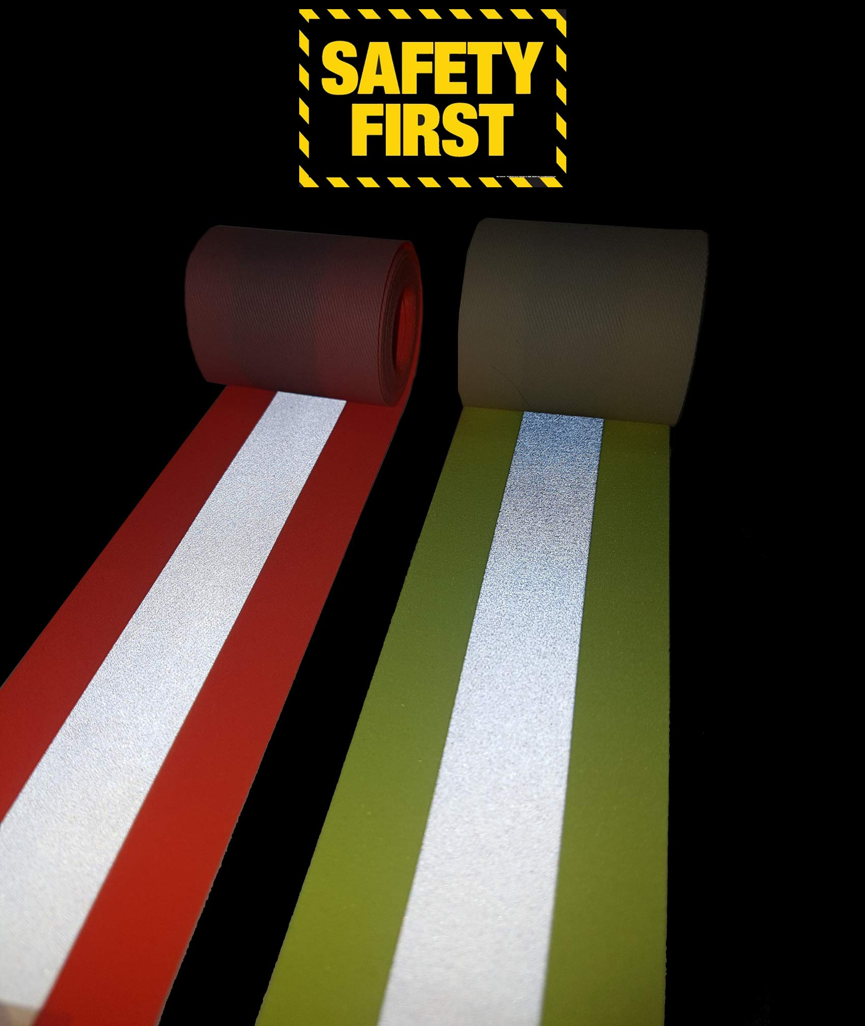Reflective Flame Resistant Sew Tape 2'' x 197'' (5M) High Visibility Firefighter Fluorescent Orange