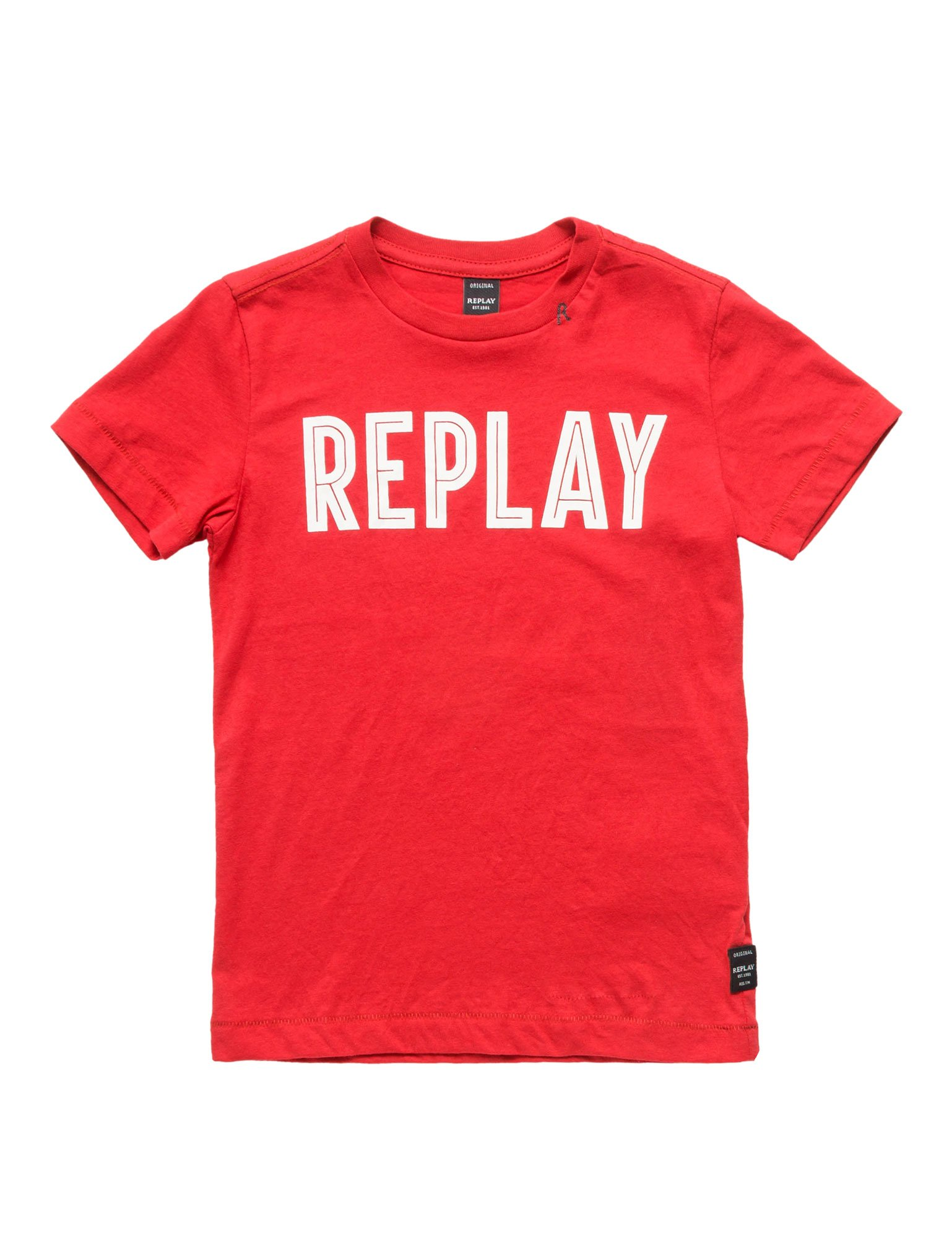 Replay Regular Fit Jersey Boy's T-Shirt In Red In Size 14 Years Red
