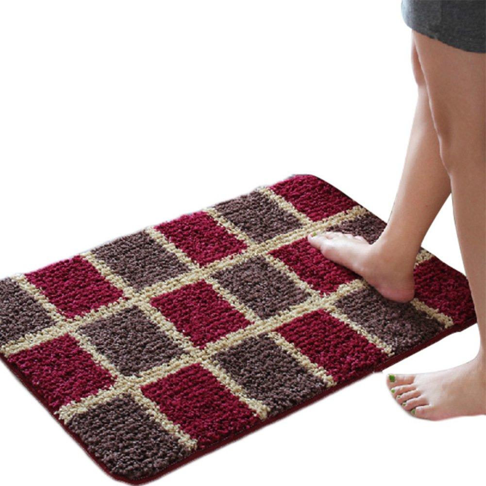 Plant flower folder cotton door mat Door carpet Doormat Bedroom Kitchen [hall] Sanitary absorbent pad Bathroom anti-slip mats-A 120x140cm(47x55inch)