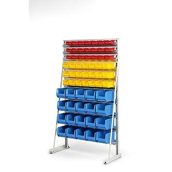 Euro Fuerza Soporte estantería con visión Cajas de almacenamiento – Por Un Lado, con visión