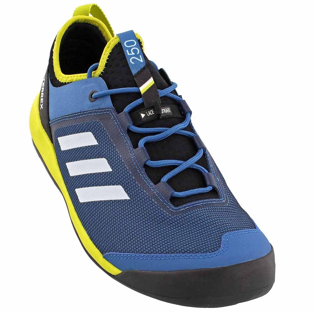 adidas outdoor Mens Terrex Swift Solo B01HLOD5B8 10 D(M) US|Core Blue, Chalk White, Unity Lime