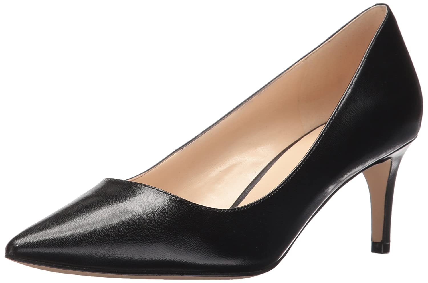 Nine West Women's Smith Leather Dress Pump B01LZRW6AD 7.5 B(M) US|Black