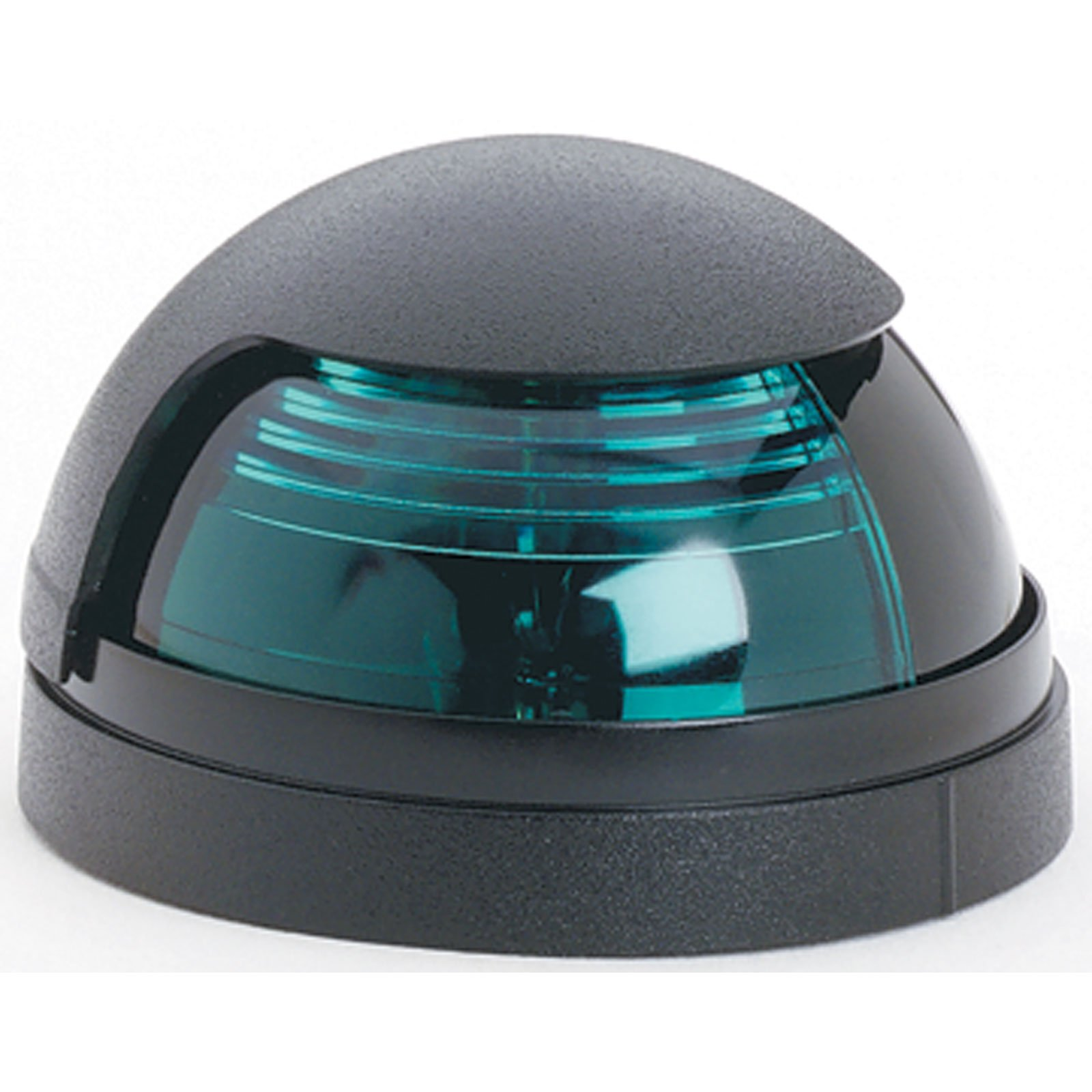 Attwood Black Cover 1-Mile Deck Mount Navigation Bow Light (Starboard/Green Lens) by attwood