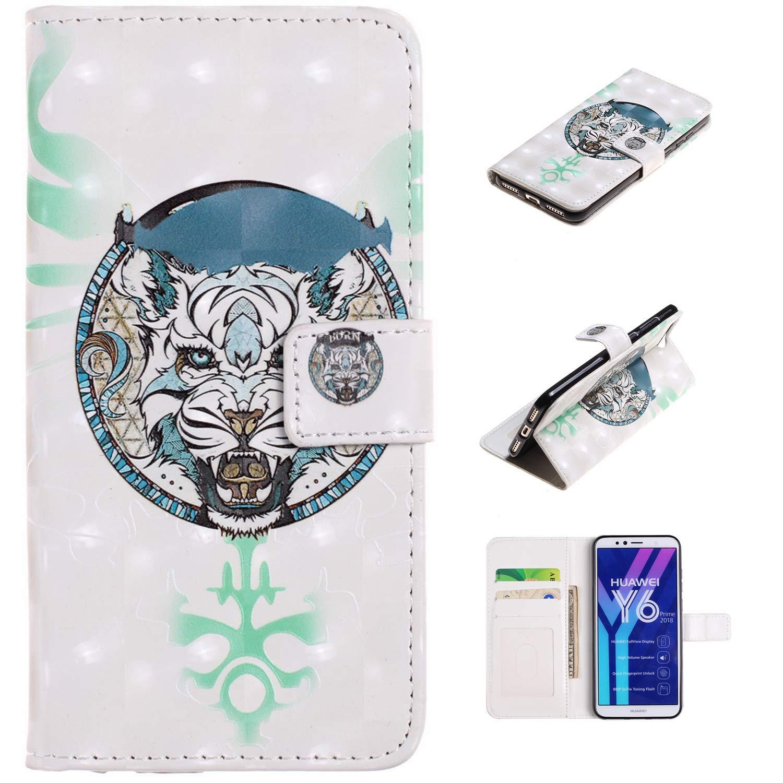Einhorn Familie HopMore Lederh/ülle Huawei Honor 8X Leder H/ülle Schutzh/ülle mit Kartenfach Klappbar Kreativ Muster Silikon Bumper Ledertasche Handyh/ülle Sto/ßfest D/ünn Cover Case