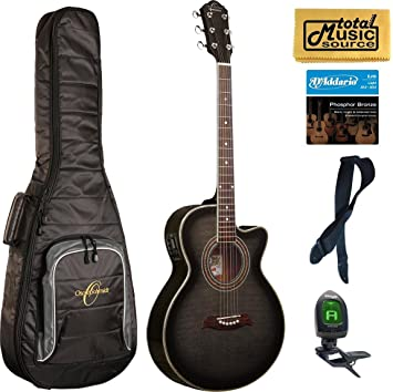 Oscar Schmidt by Washburn a/E/de concierto, guitarra Folk negro, og10ceftb lote de funda, og10ceftb mochila: Amazon.es: Instrumentos musicales