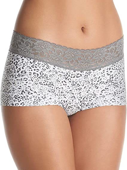 Elomi Nala Boyshort Panty Style EL8716 Beige Animal print Moderate Rear Coverage