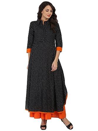 8bd4c71f1c2 Nayo Women s Cotton Pathani Kurti (BER1211 XXL Black Xx-Large ...