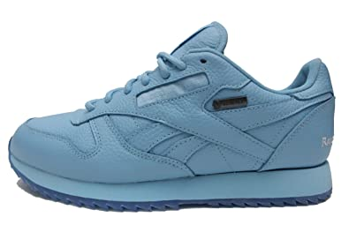 4b48a1039f3c Reebok Men s Classic Leather Ripple GTX (Raised by Wolves) in Cape Blue  White
