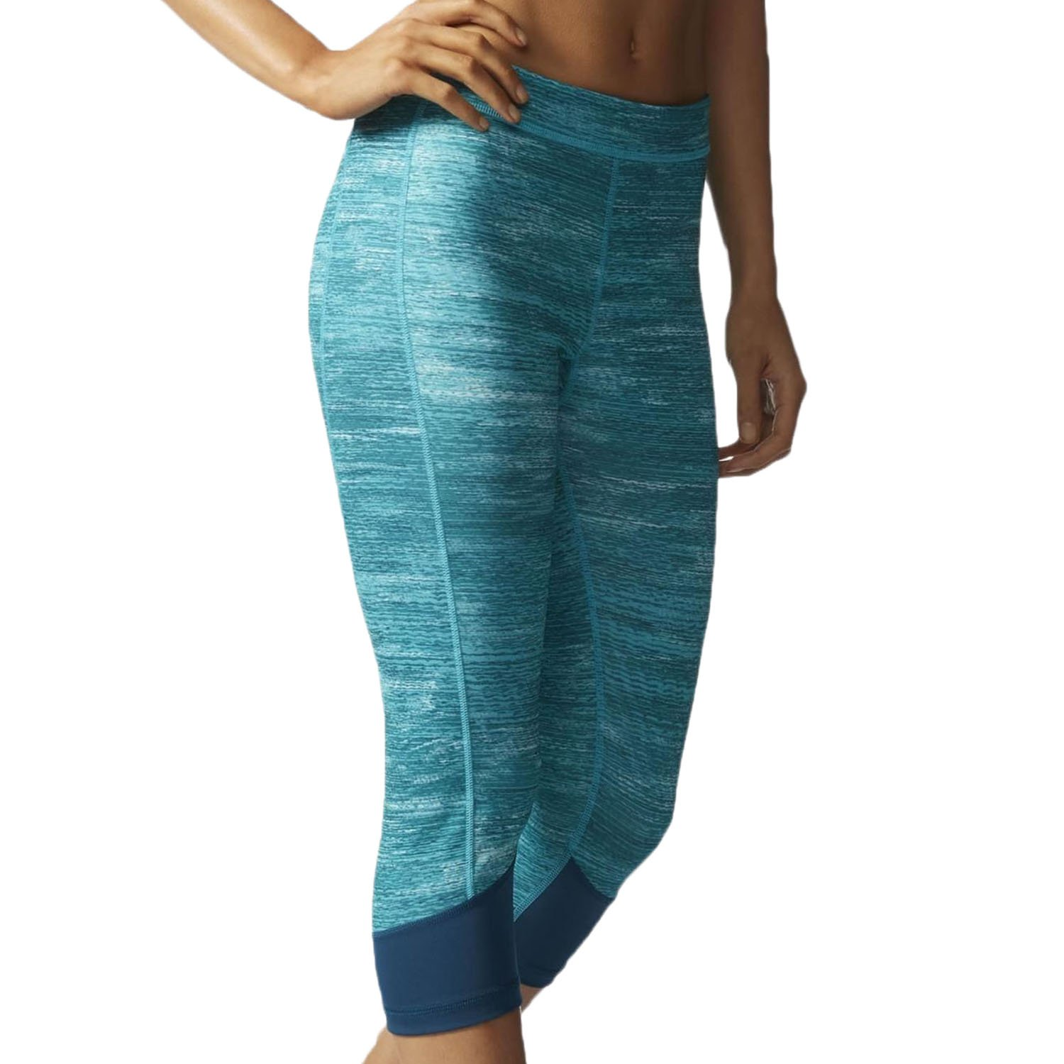 adidas Women's Techfit Capris, Mineral Heather, X-Small by adidas (Image #1)