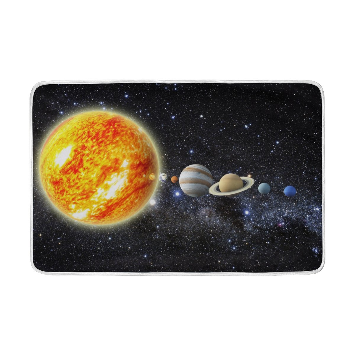 ALAZA Solar System Stars Outer Space Universe Blanket Luxury Throw Personalized Stylish Fuzzy Soft Warm Lightweight Blanket for Bed Counch All Season Unisex Adult Men Women Boys Girls 60x90 inches