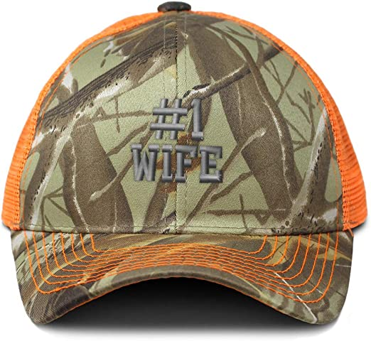 Custom Camo Mesh Trucker Hat Number #1 Actress Embroidery Cotton One Size