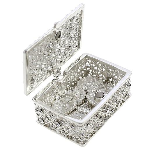 Boda unidad moneda Set - ARRAS DE BODA - Caja de pecho y decorativa para cristales recuerdo: Amazon.es: Hogar