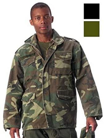 Woodland Camouflage Military Vintage M-65 Field Jacket 8613 Size X-Small d56e5e5c000